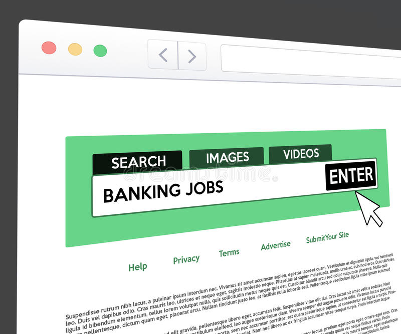 Banking Jobs Web Search royalty free illustration