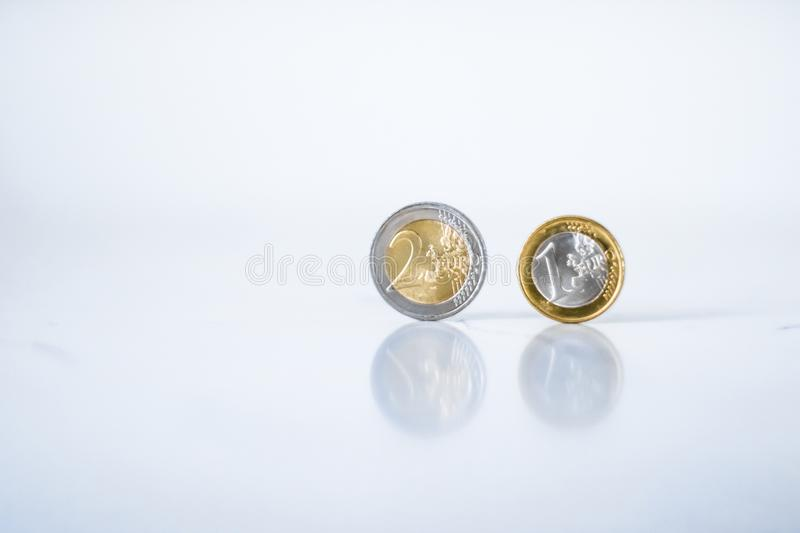 Euro coins, European Union currency stock photos