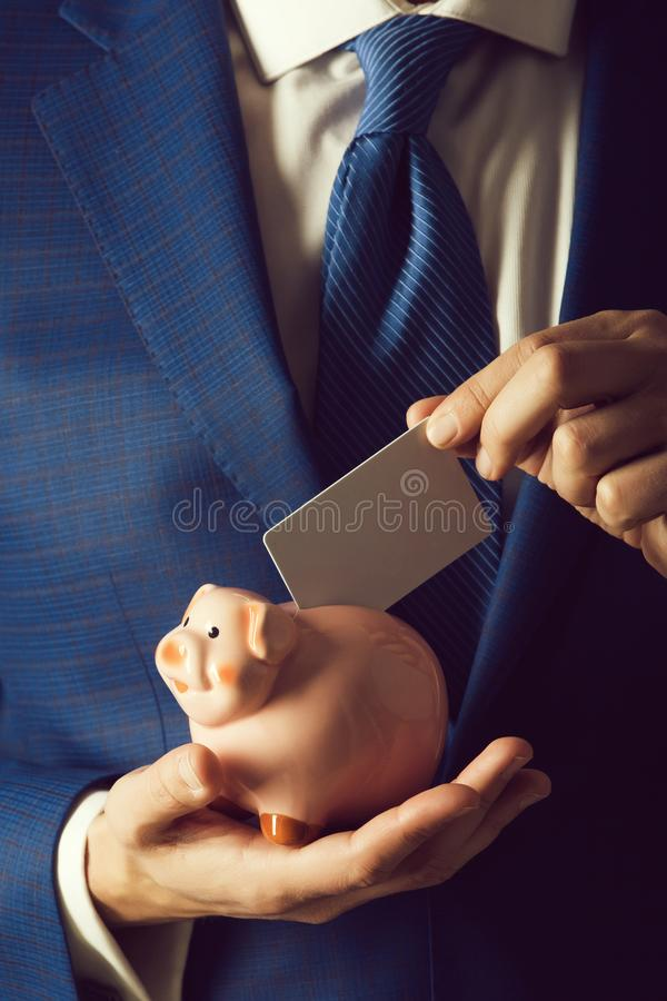 Banking, money, loan, moneybox, ecash and information stock photo