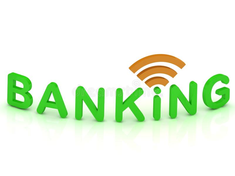 Download BANKING Sign With The Antenna With Green Letters Stock Illustration - Image: 25878288