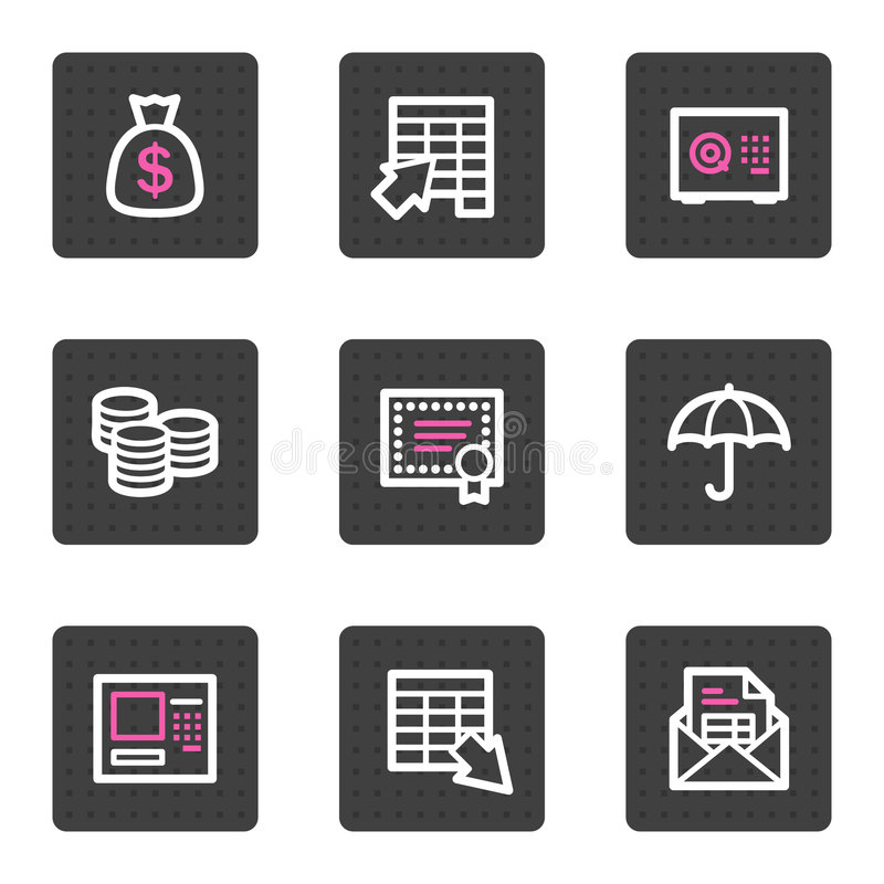 Download Banking video web icons stock vector. Illustration of delete - 8221492
