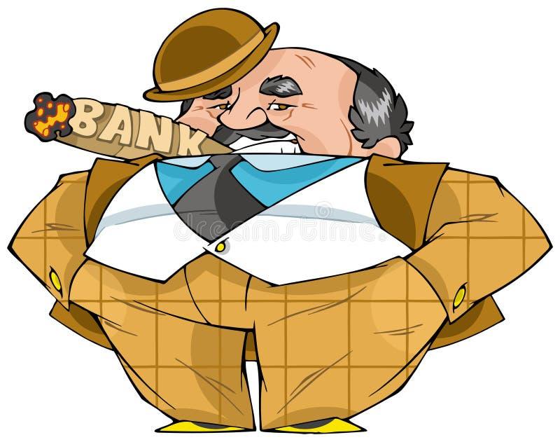 bankir stock illustrationer