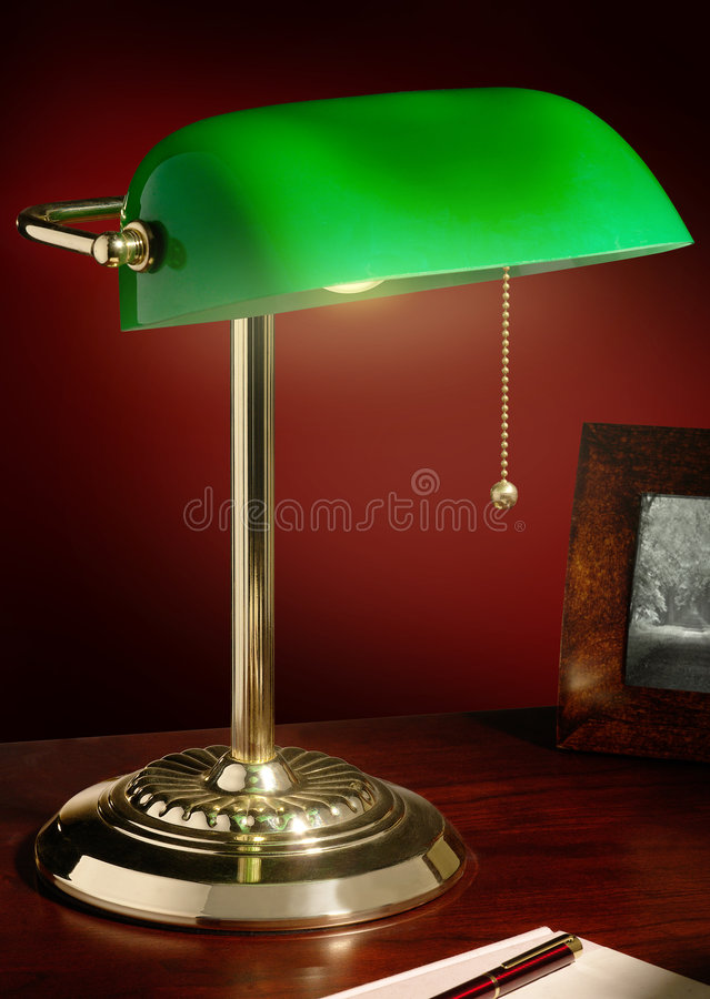 bankirmässingslampa s arkivbild