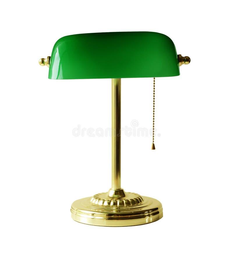 bankirskrivbordlampa royaltyfri bild