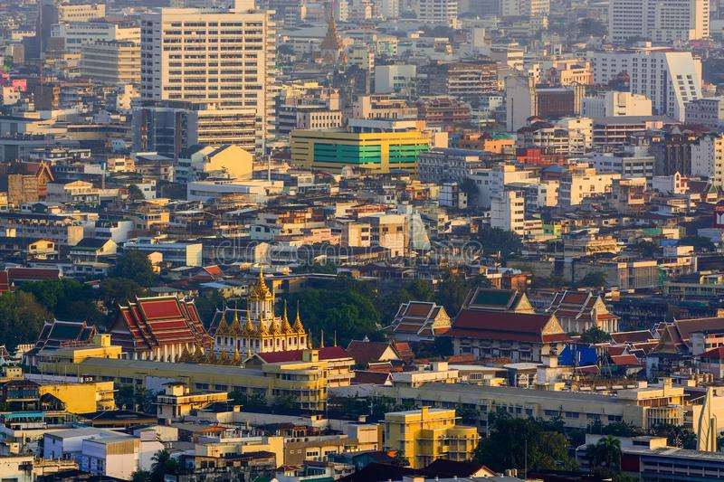 Bankkok, The capital of Thailand with building and skyscrapers. Bankkok, The capital of Thailand with building and skyscrapers in evening royalty free stock photos