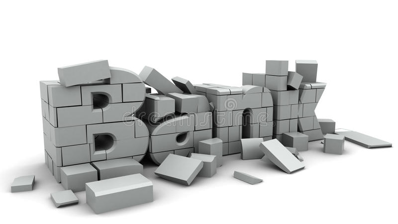 bankkollaps vektor illustrationer