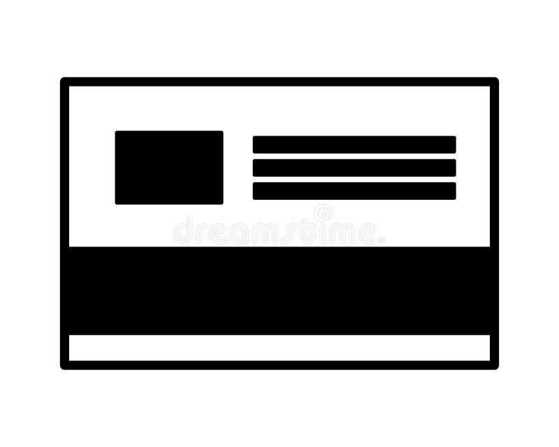 Bankkreditkort stock illustrationer