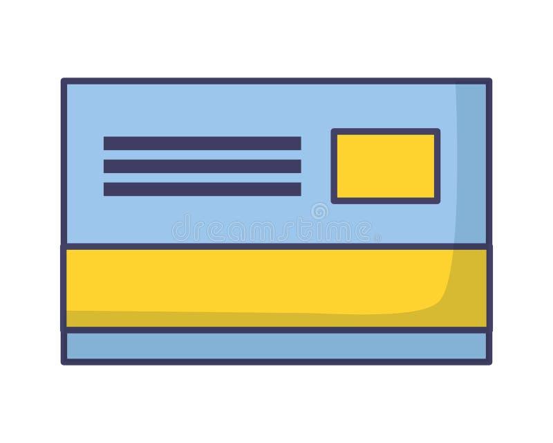 Bankkreditkort vektor illustrationer