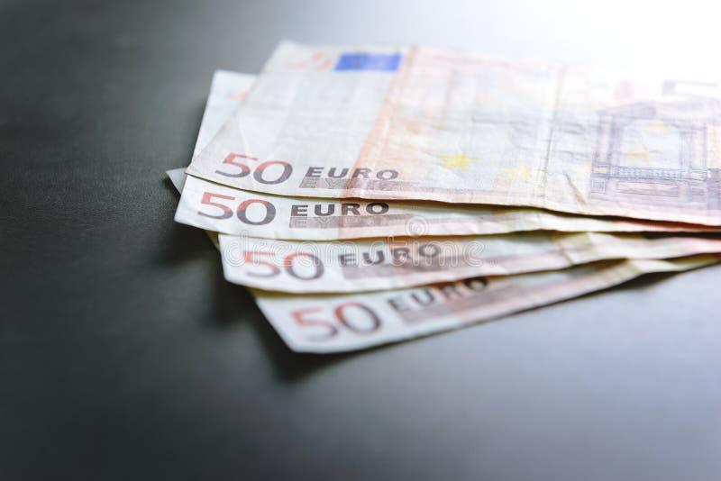 50 banknotów euro obrazy stock