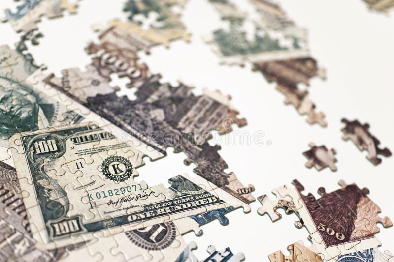 Banknot łamigłówka zdjęcia royalty free
