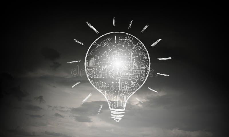 banknot żarówki pomysł interesy światło zdjęcia stock