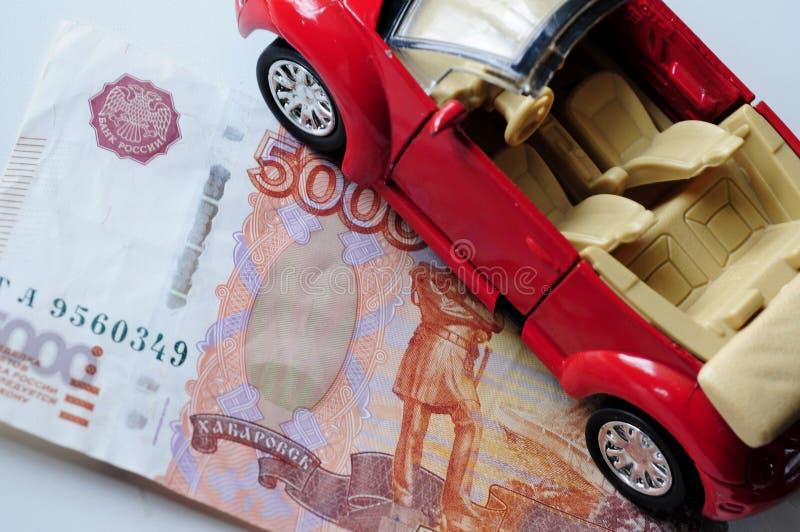 Banknot i czerwień samochód zdjęcia royalty free