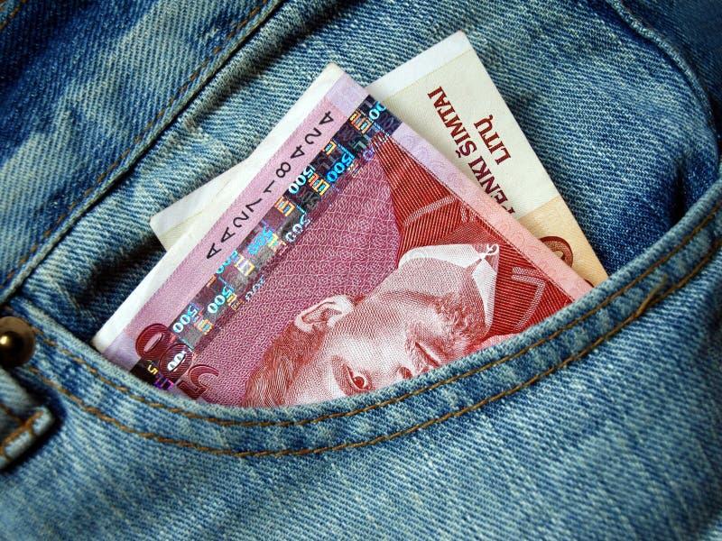 banknot kieszeń obraz royalty free
