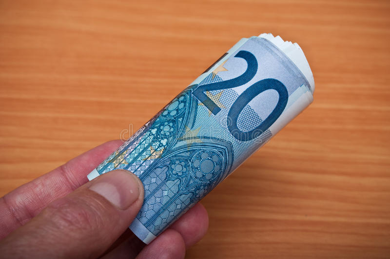 Banknot von zwanzig Euros stockbild