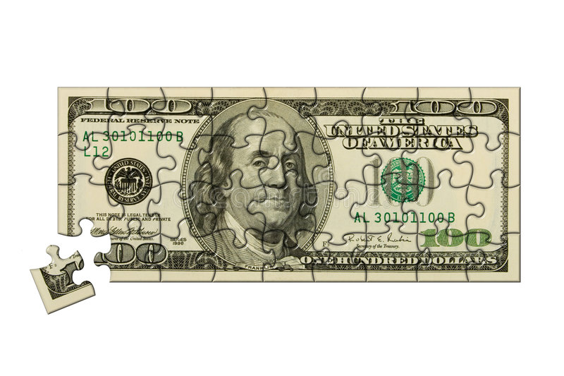 Banknote 100 dollars puzzle