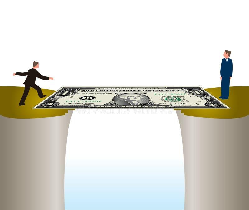 Banknote bridge vector illustration