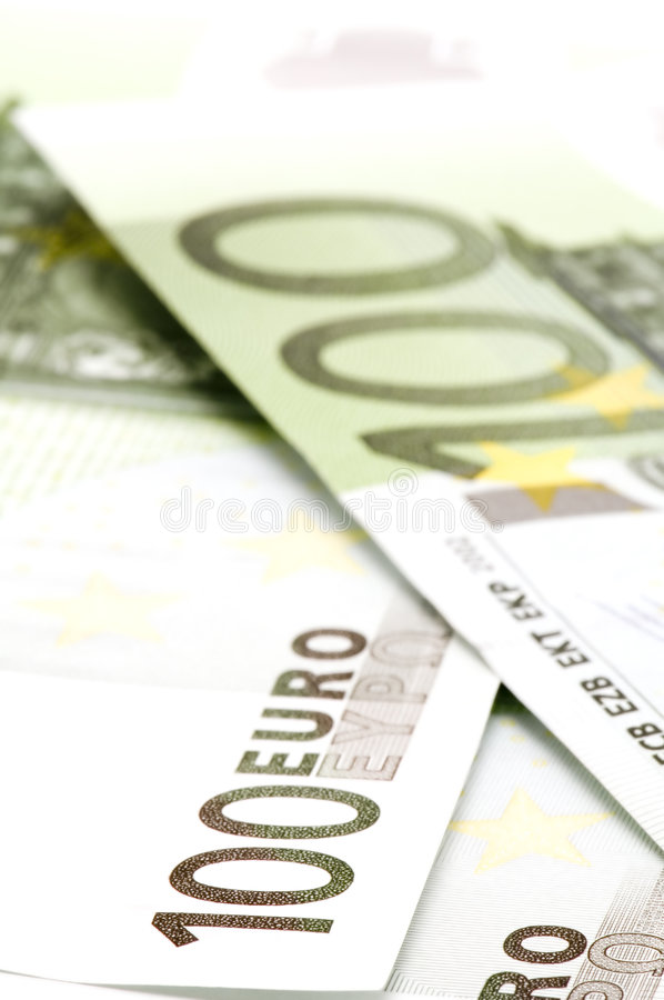 Banknote hundred Euro stock images