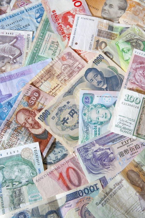 Banknoten der verschiedenen Länder lizenzfreie stockfotografie