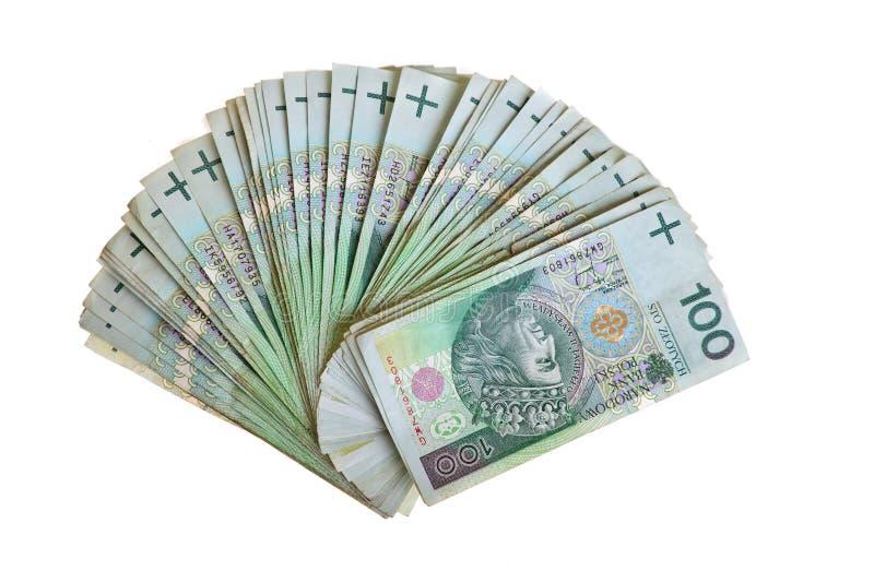 Banknoten des polnischen Zlotys stockfotos
