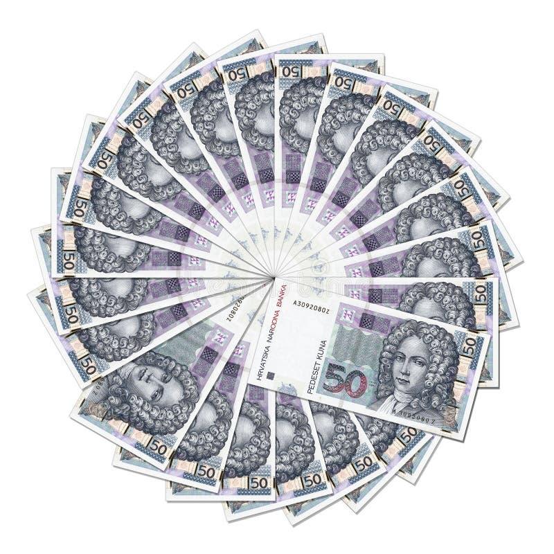 Banknoten im Kreis lizenzfreies stockfoto