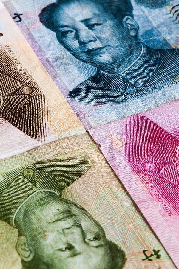 The banknotes. Banknotes - Yuan bills of China stock photo