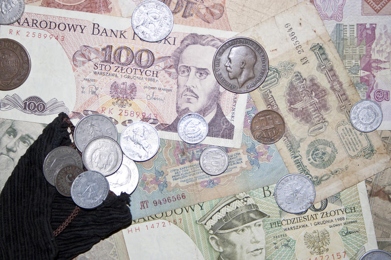 Banknotes And Coins Royalty Free Stock Photo
