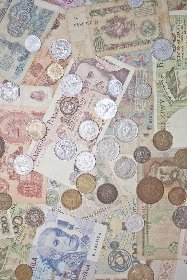Banknotes And Coins Stock Image