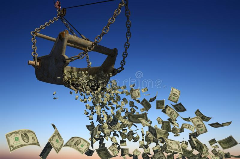 Download Banknotes of dollars stock illustration. Image of concept - 25223186