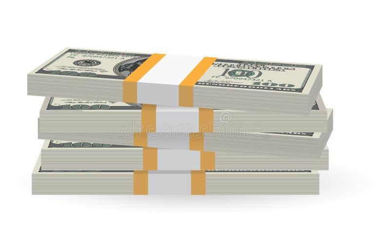 Banknotes stack vector illustration