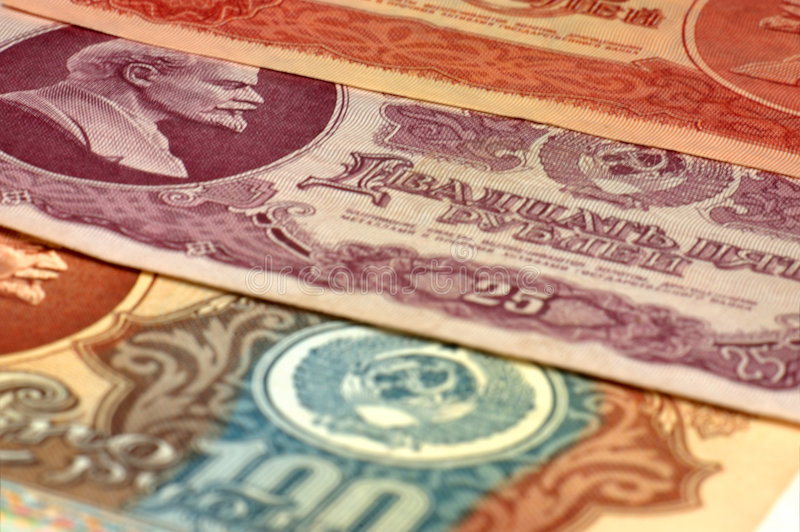Banknotes USSR... royalty free stock images