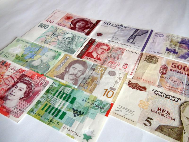 Banknotes of the world. European currency. royalty free stock photography