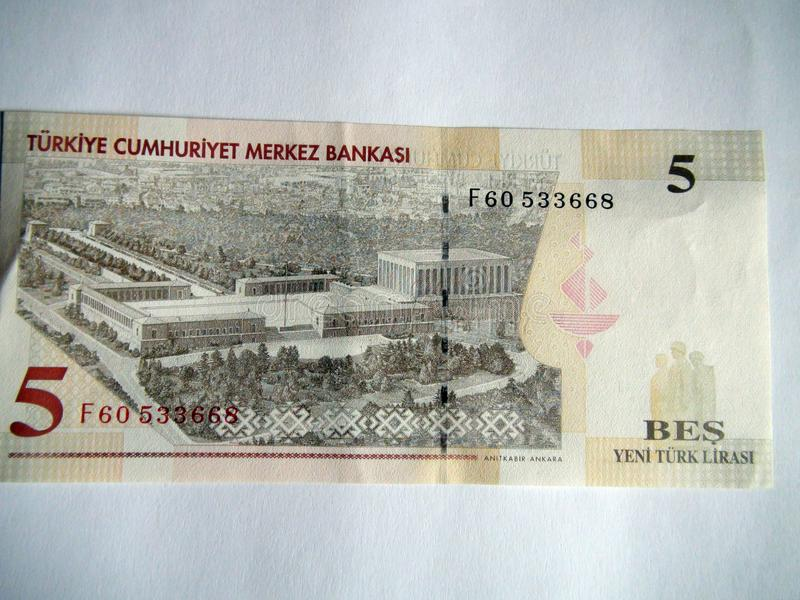 Banknotes of the world. Turkish Lira. stock photos