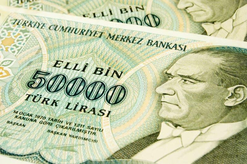 banknoty tureckich obraz royalty free