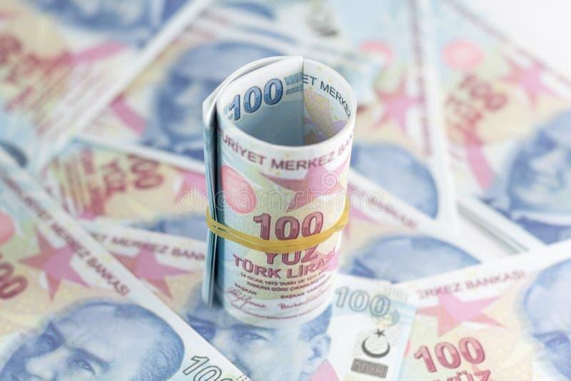 banknoty tureckich lir?w 100 turkish Sto Tureckich lir?w obrazy royalty free