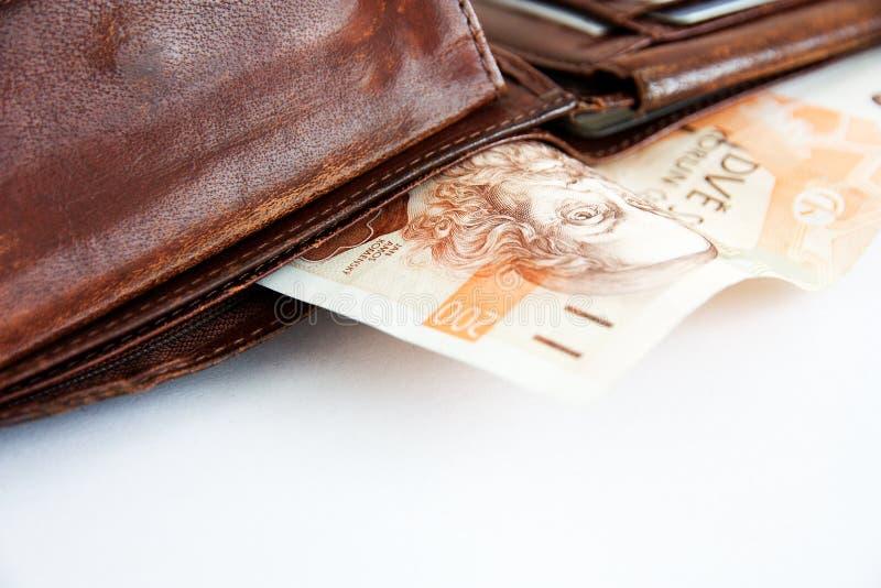 Banknoty w portflu zdjęcia royalty free