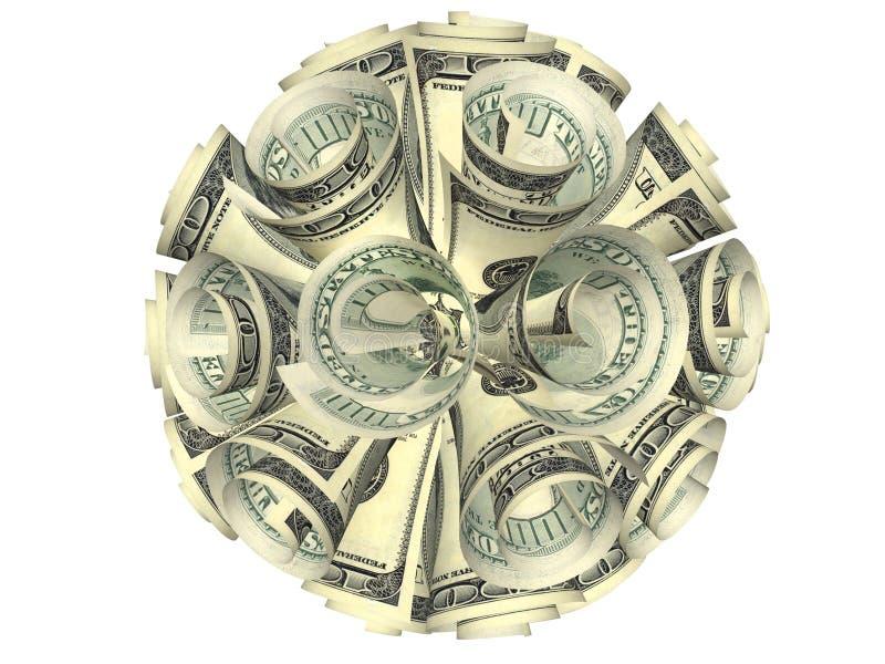 banknoty załamująca się składu owalna tubka royalty ilustracja