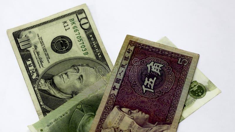 Bankof China Yuans tegen de dollar Uitwisseling, wisselmarkt of Forex in China Verkoop of aankoop van yuans Aandelen van stock afbeeldingen