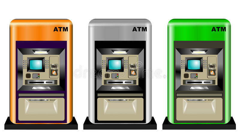 bankomaty kolor ilustracja wektor