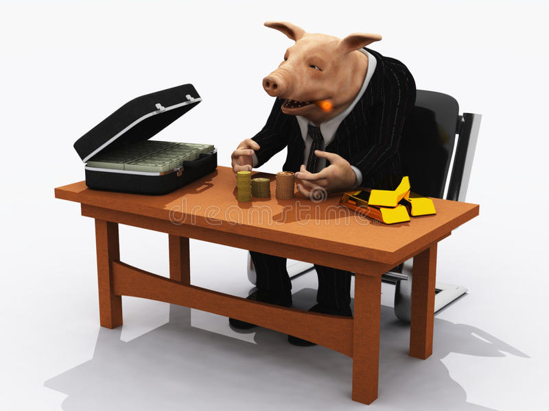 bankowiec świnia ilustracja wektor