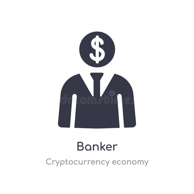 Bankowiec ikona odosobnionej bankowiec ikony wektorowa ilustracja od cryptocurrency gospodarki kolekcji editable ?piewa symbol mo royalty ilustracja