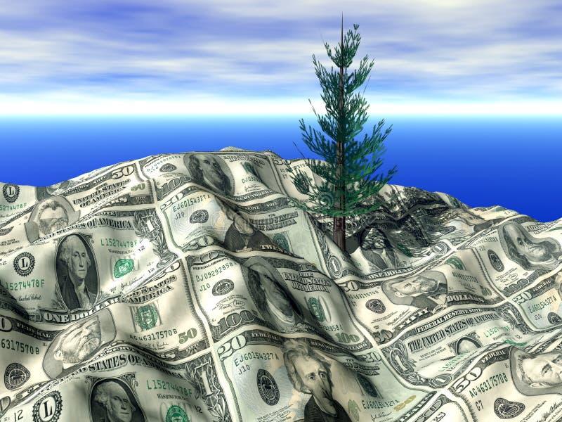 bankowość finansowego krajobrazu ilustracji