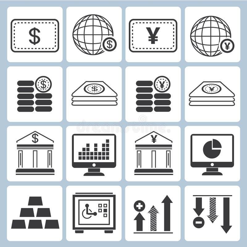 Bankowość ikony royalty ilustracja