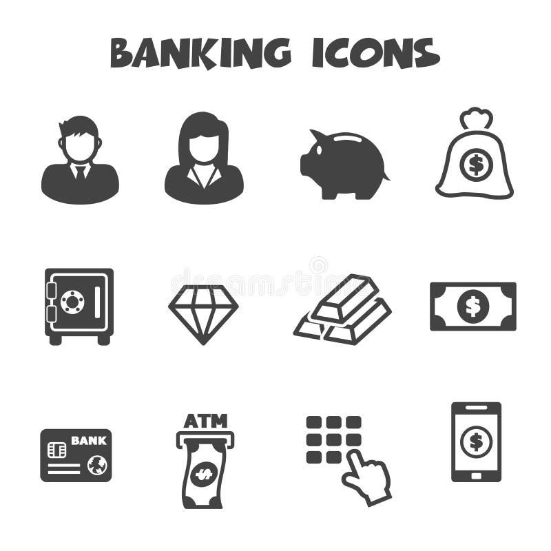 Bankowość ikony ilustracji