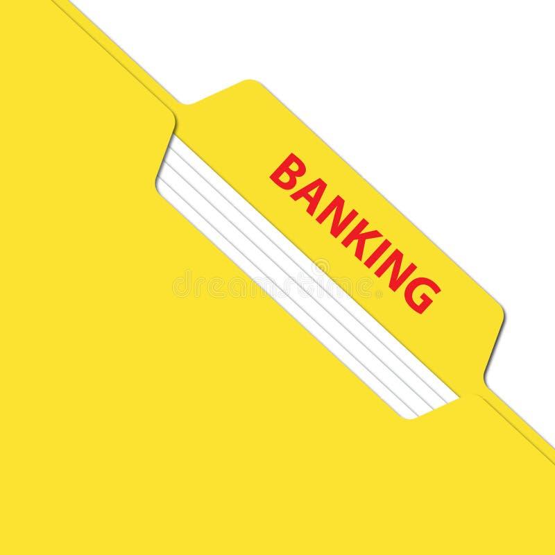 Bankowości falcówka z kartotekami ilustracja wektor
