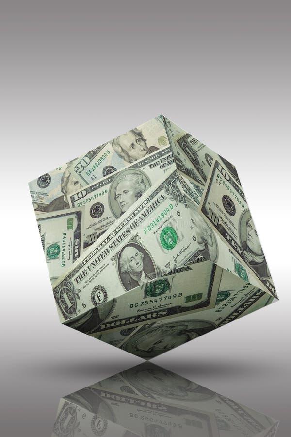 bankowości finansowego sześcianu pieniądze zdjęcie stock