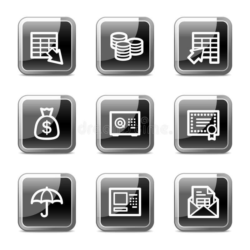 bankowości guzików glansowana ikon serii sieć ilustracja wektor