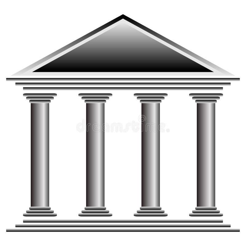 Bankpictogram stock illustratie