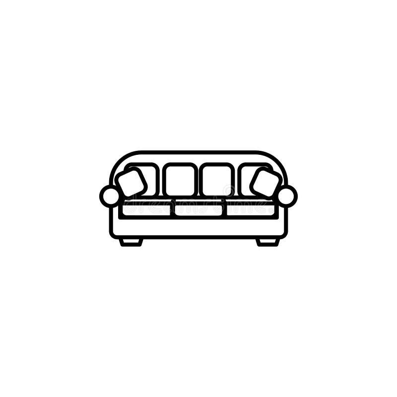 Bankpictogram Element van meubilair voor mobiel concept en Web apps Dun lijnpictogram voor websiteontwerp en ontwikkeling, app de vector illustratie