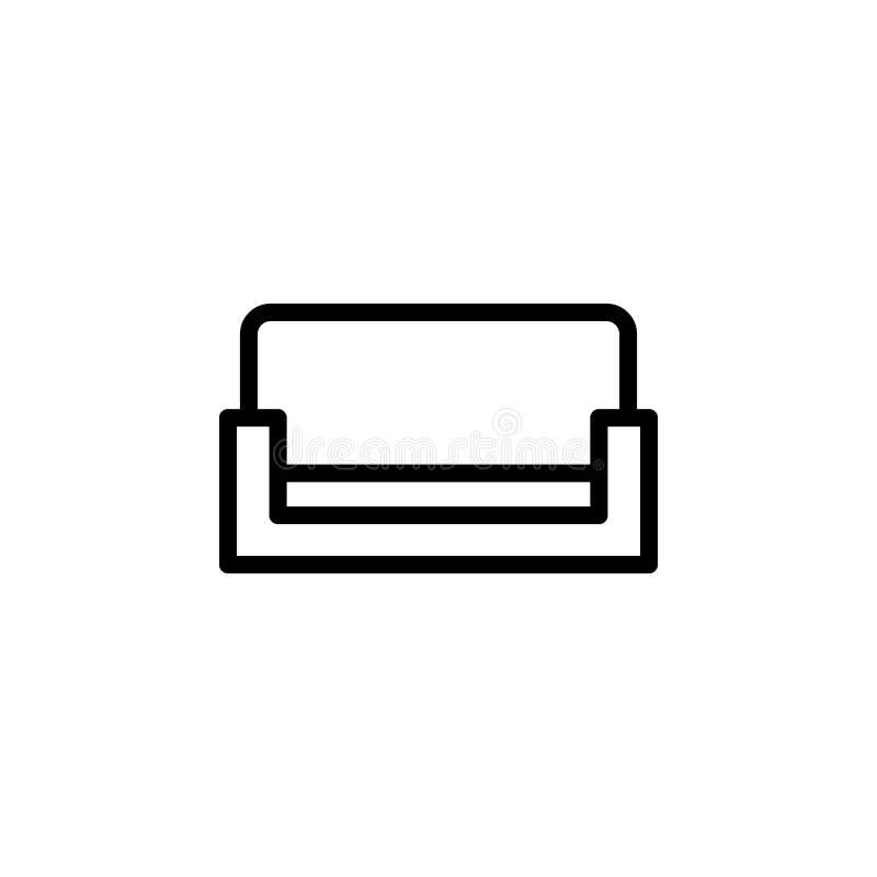 Bankpictogram Element van minimalistic pictogrammen voor mobiel concept en Web apps Dun lijnpictogram voor websiteontwerp en ontw stock illustratie