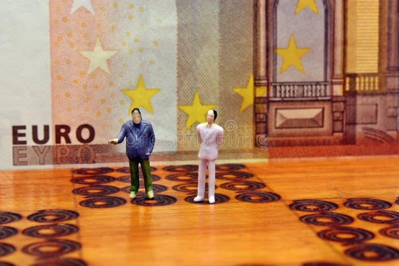 Bankrörelseaffärsstrategi i Europa royaltyfri bild